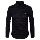 MUSE FATH Mens Printed Casual Button Down Shirt-Cotton Long Slee