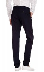 MUSE FATH Mens Slim Tapered Flat Front Pant, Modern Fit Casual Trousers